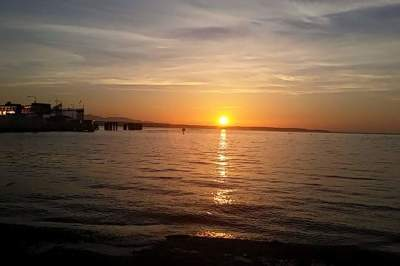 Sunset view of the Salish Sea